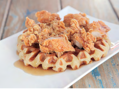 Chicken and Waffle Bites image
